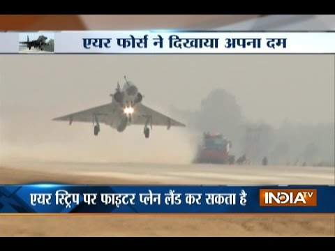 IAF Sukhoi, Mirage Fighter Jets Touch Down Successfully on Agra-Lucknow Expressway