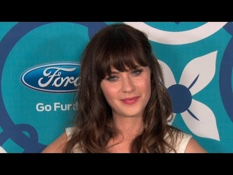 Zooey Deschanel at the 2013 Fox Fall Eco Casino Party red carpet