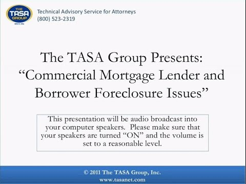 Commercial Mortgage Lender and Borrower Foreclosure Issues