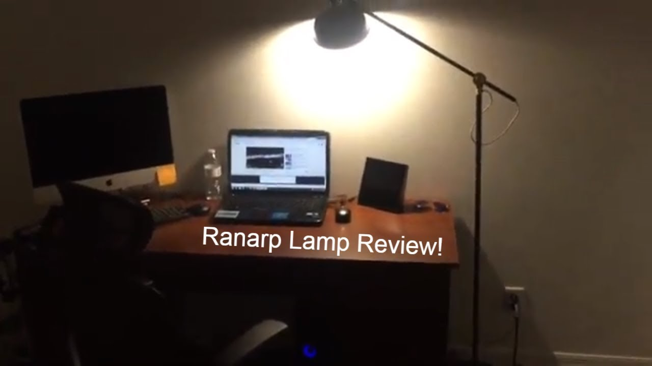 Ikea Ranarp Lamp : Ranarp standing lamp black gold matte finish unboxing and review