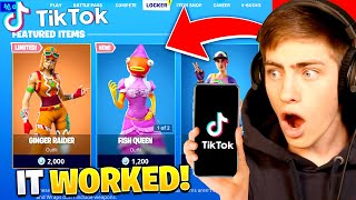 Trying VIRAL Fortnite Tik Tok Glitches... they worked!