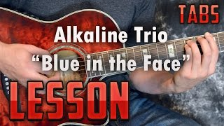 Blue in the Face-Alkaline Trio-Chords and Rhythm Guitar Lesson -Acoustic Songs-Punk