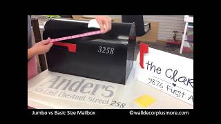 How to Choose a Vinyl Sticker Decal for Your size Mailbox