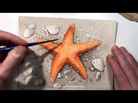 Orange Starfish Painting