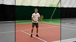 Теннис. Удар справа с лёта
