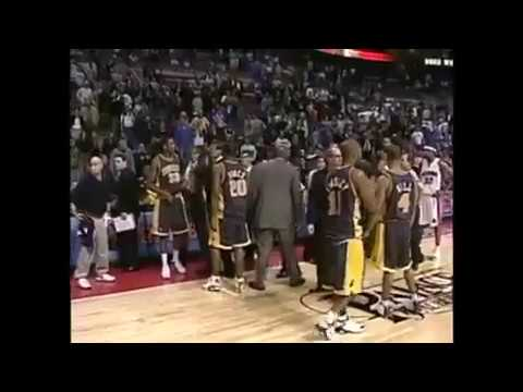 Raw and Rare footage of The Malice At The Palace - Detroit Pistons vs. Indiana Pacers (2004)