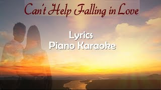 vuclip Elvis Presley, Can't Help Falling in Love - Lyrics and Piano Karaoke