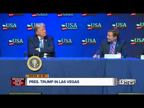 President Donald Trump spends the day in Las Vegas