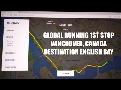 GLOBAL RUNNING GPS TRACKING ROUTE BEAUTIFUL VANCOUVER, CANADA