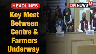 Union Ministers Narendra Tomar, Piyush Goyal Hold Talks With Farmer Leaders | CNN News18