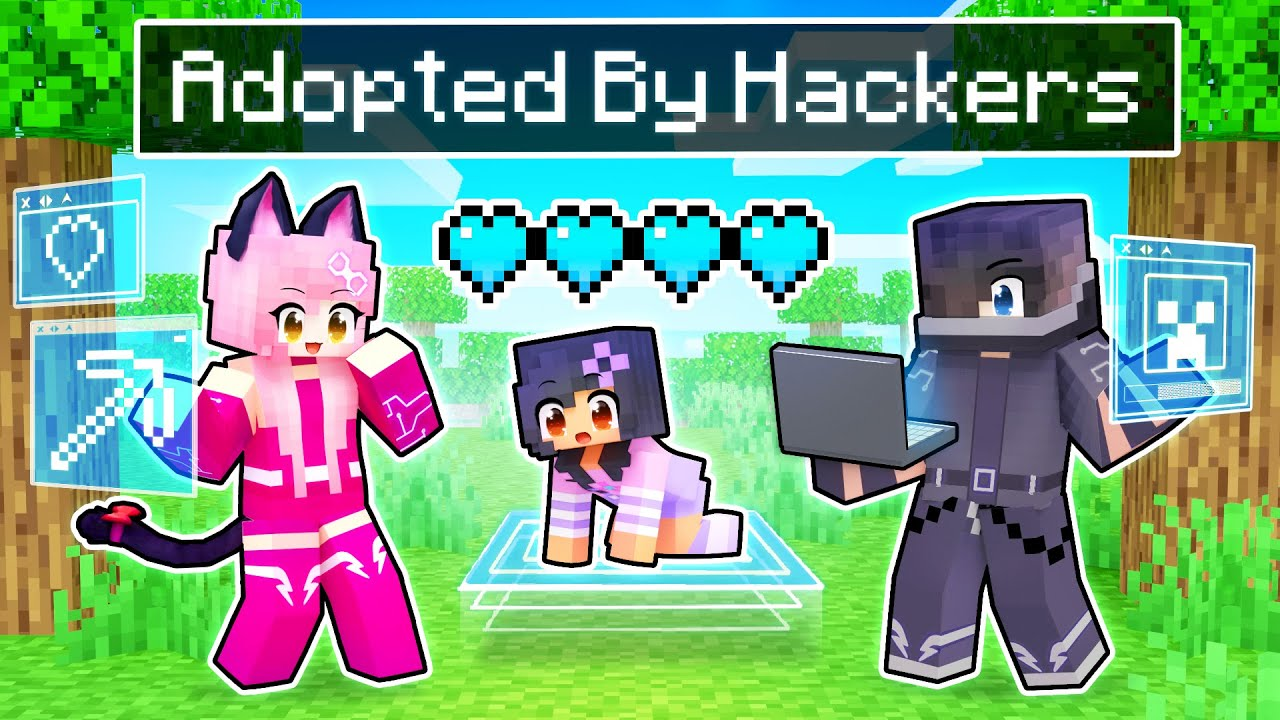 Download Adopted By PRO HACKERS In Minecraft!