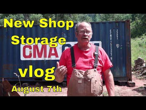 New shop storage - Vlog August 7