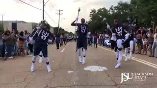 Jackson State University's Sonic Boom of the South Marching Out of Thee Merge