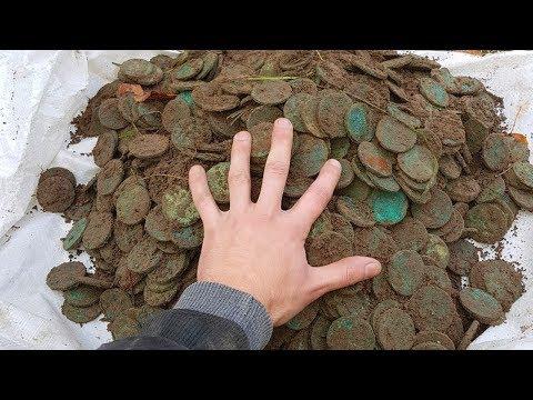 НЕВЕРОЯТНЫЙ КЛАД! Полный ЧУГУН медных монет ВЕСОМ 50 КИЛОГРАММ