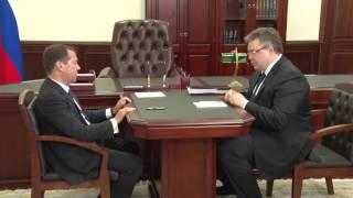 Дмитрий Медведев в Ставропольском крае.