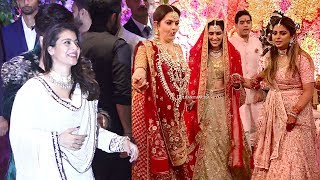 LIVE Kajol's GRAND ENTRY At Mukesh Ambani's Son Akash Ambani's WEDDING Reception
