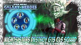 Nightsisters Destroy G13 CLS Rebel Scum SWGOH