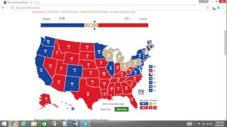 2016 Electoral Map Prediction Trump vs. Clinton - 7 Weeks From Election Day