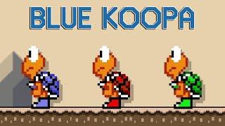 Blue Koopas in Super Mario Maker 2