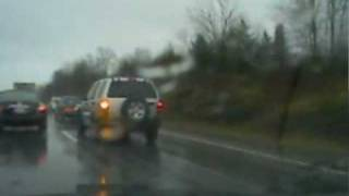 pilotcar.tv - Tanker Wreck In Ditch I-84 Eastbound Montgomery NY HD