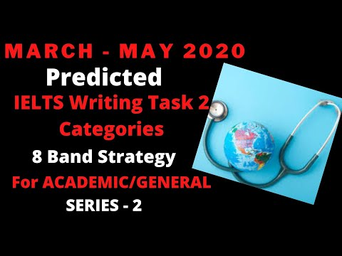 MARCH - MAY 2020 IELTS WRITING TASK 2 CATEGORIES PREDICTION   AC & GT   Eight Band Assured !
