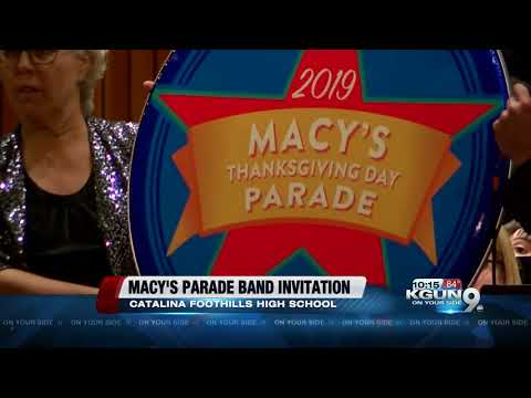 Catalina Foothills High School Falcon Marching Band to attend 2019 Macy's Parade