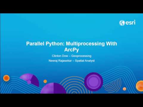 Parallel Python: Multiprocessing with ArcPy