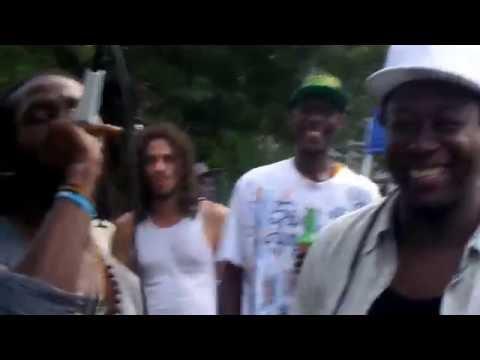 Slumlawd  and Flourgan at Ras Simba's Block Party