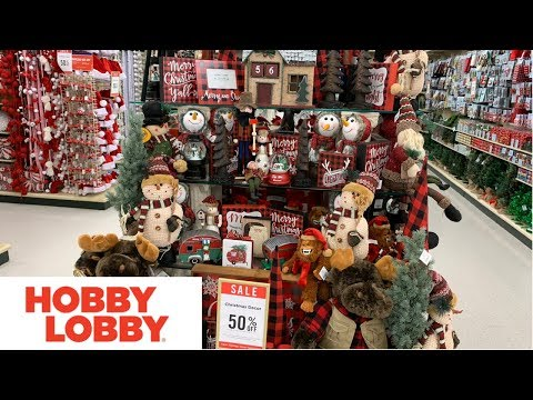 HOBBY LOBBY CHRISTMAS DECOR 50% off !!!!!! HOLIDAY EDITION! SHOP WITH ME!!!!!