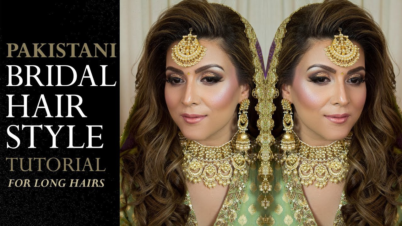 bridal hairstyle tutorial | pakistani bridal hairstyle video | step by step 2018 wedding hairstyles