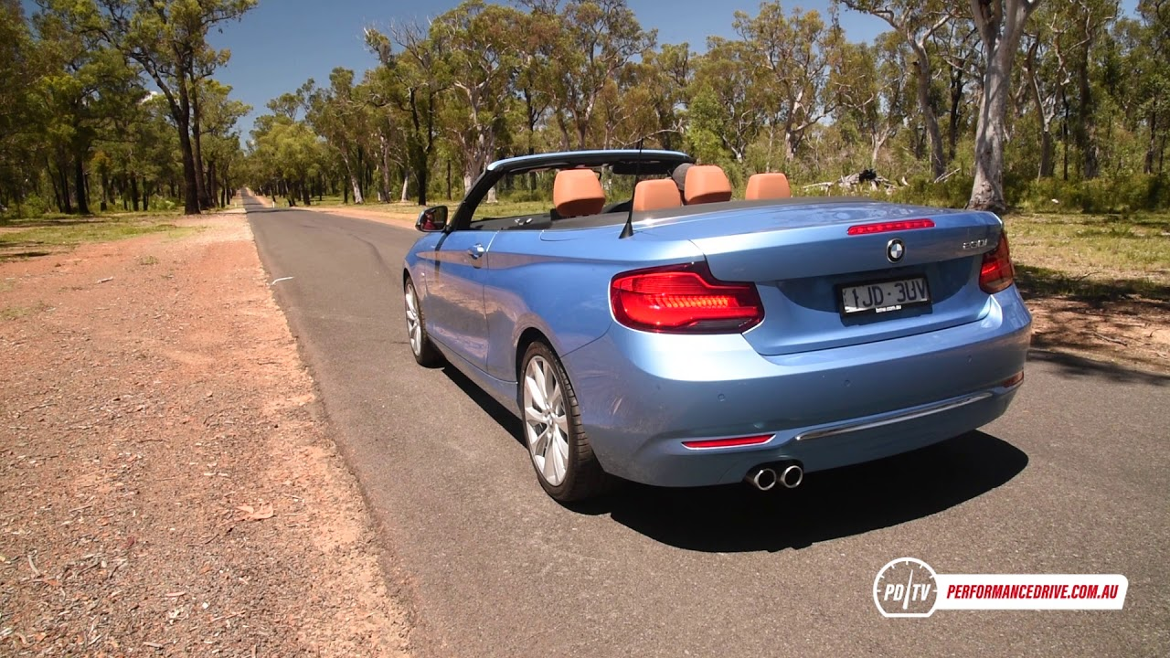 2018 bmw 230i convertible 0 100km h engine sound youtube. Black Bedroom Furniture Sets. Home Design Ideas