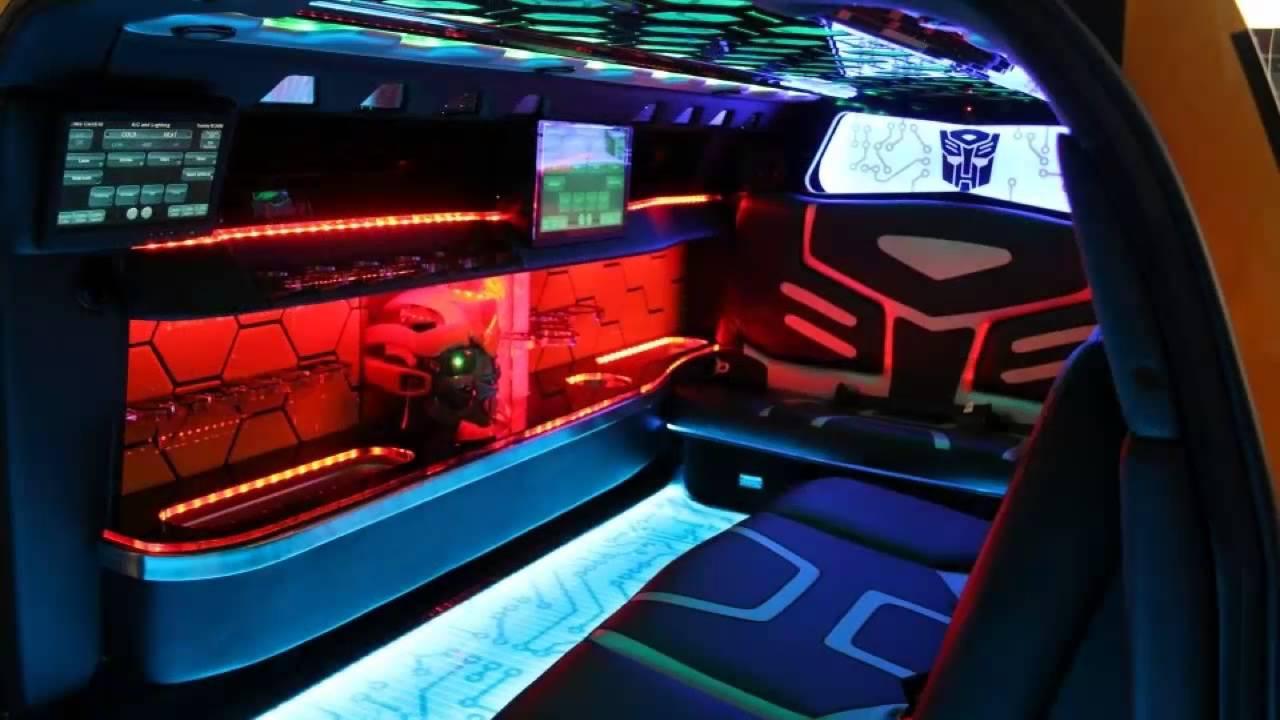 car interior 2013 chevrolet camaro bumblebee limousine youtube. Black Bedroom Furniture Sets. Home Design Ideas