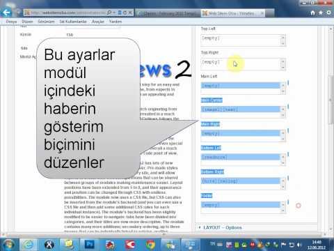 Joomla AidaNews Modül Kurulum, Kullanım ve Ayarlarının Anlatımı türkçe
