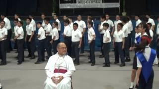 Archbishop Anthony Apuron visits Saint Anthony Catholic School (Tamuning Guam)