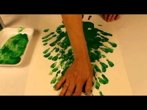 Bricolage noel sapin avec peinture doigt youtube - Bricolage de noel facile pour adulte ...