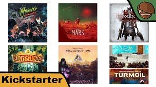 Terraforming Mars: Turmoil, On Mars, Bloodborne - Kickstarter News mit Cron