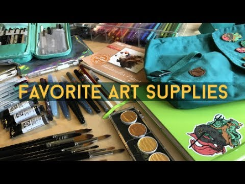 My Favorite Art Supplies // Jacquelin de Leon