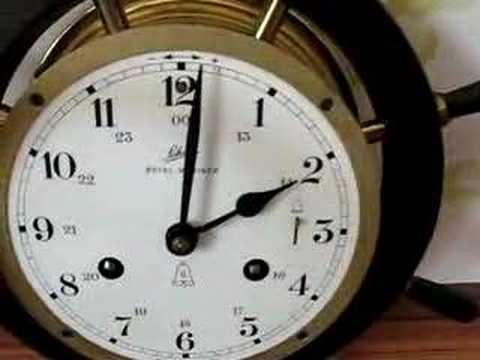 Large Schatz Royal Mariner Ships Clock For Sale
