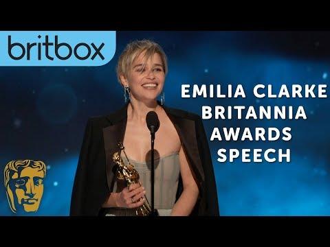 Emilia Clarke Thanks Game of Thrones Creators for Her Big Break  Britannia Awards  BritBox