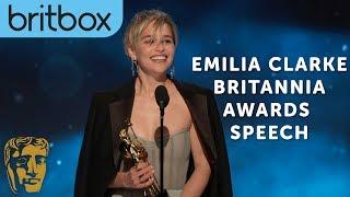 Emilia Clarke Thanks Game of Thrones Creators for Her Big Break | Britannia Awards | BritBox