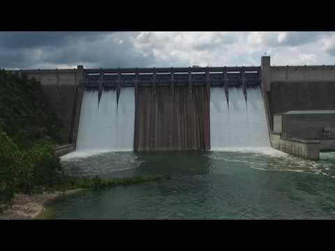 Drone - Table Rock Dam Flood Gates - Edited