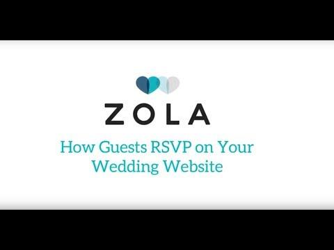 Zola Weddings | How Guests RSVP on Zola Wedding Websites