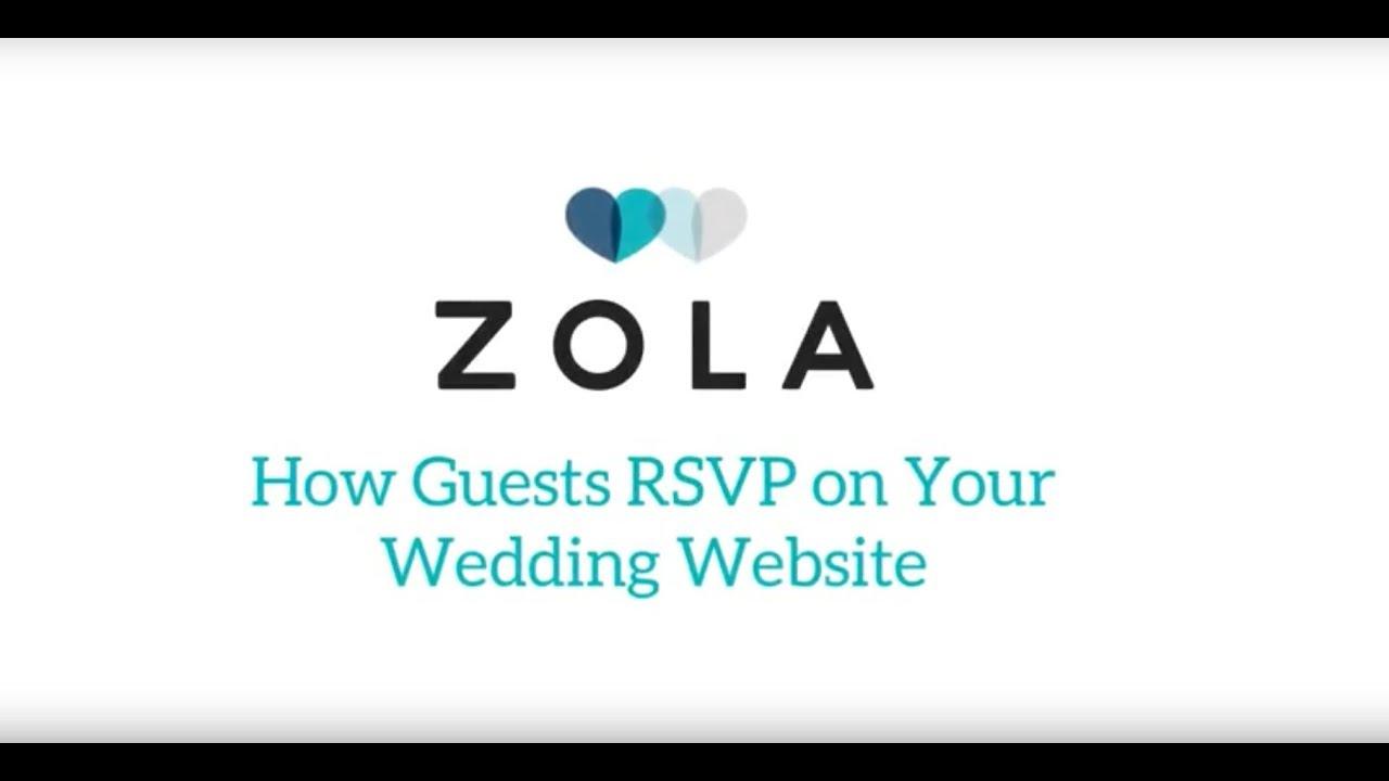 Wedding Rsvp Website.Zola Weddings How Guests Rsvp On Zola Wedding Websites