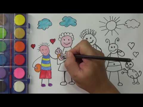 My family Coloring Pages, Painting and drawing  | PA channel