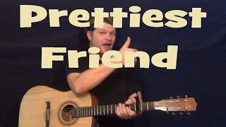 Prettiest Friend (Jason Mraz) Easy Guitar Lesson Strum Fingerstyle How to Play Tutorial
