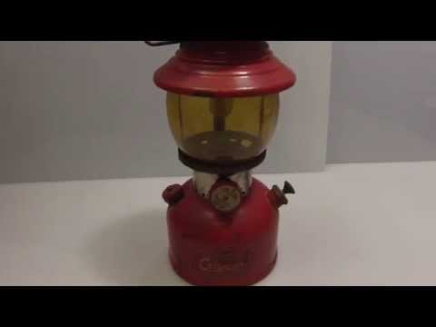 ►Vintage 1956 COLEMAN 200A Red Lantern Pyrex Globe #36 Craigslist Hunter