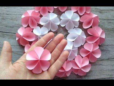Как делать маленькие цветочки из бумаги