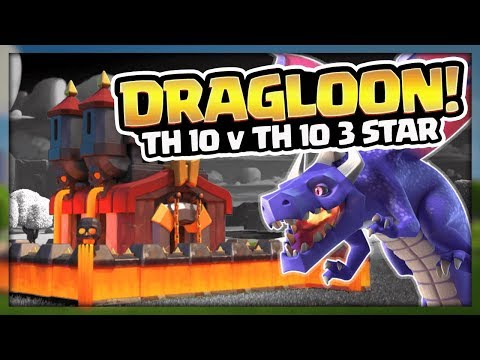 TH 10 v TH 10 Dragon 3 Star Attack Strategy | Strategy with the Pros | Clash of Clans