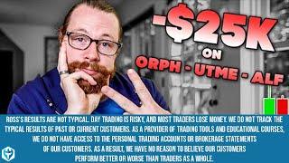 -$25k on (NASDAQ: ORPH UTME ALF) | Recap by Ross Cameron