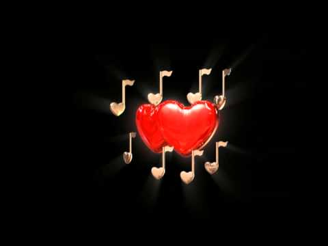 Love Hearts Musical Symbol Video   Animation Motion Graphics